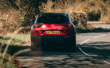34 Mazda MX 30 2021 road test review cornering rear