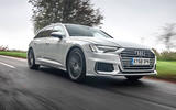 Audi A6 Avant 2018 road test review - on the road angle
