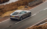 Jaguar F-Type 2020 road test review - on the road rear
