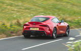 Toyota GR Supra 2019 road test review - cornering rear