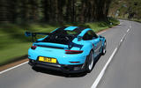 Porsche 911 GT2 RS 2018 road test review on the road rear