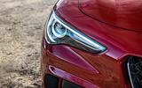 Alfa Romeo Stelvio Quadrifoglio 2019 road test review - headlights