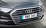Audi A8 60 TFSIe 2020 road test review - front grille