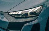 4 audi e tron gt 2021 lhd uk first drive review headlights