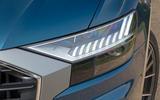 Audi Q8 50 TDI Quattro S Line 2018 road test review - headlights