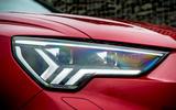 Audi RS Q3 2020 road test review - headlights