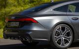 Audi S7 Sportback TDI 2020 road test review - rear end