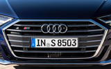 Audi S8 2020 road test review - front grille