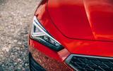 4 Cupra Leon Estate 2021 road test review headlights