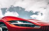 Ferrari Roma 2020 road test review - headlights