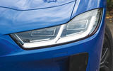 Jaguar I-Pace 2018 road test review headlights