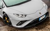 Lamborghini Huracan EVO RWD 2020 road test review - nose