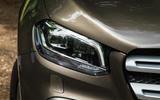 Mercedes-Benz X-Class road test review headlights