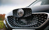 MG ZS EV 2019 road test review - bonnet badge