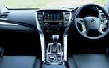Mitsubishi Shogun Sport 2018 road test review dashboard