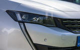 Peugeot 508 SW Hybrid 2020 road test review - headlights