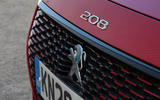 Peugeot e-208 2020 road test review - front grille
