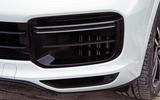 Porsche Cayenne Turbo 2018 road test review front bumper
