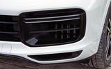 Porsche Cayenne Turbo 2018 road test review front bumper