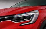 Renault Captur 2020 road test review - headlights