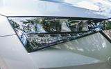 Skoda Scala 2019 road test review - headlights