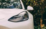 Tesla Model 3 road test - headlight