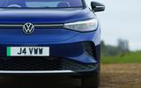 4 volkswagen id 4 2021 uk first drive review headlights