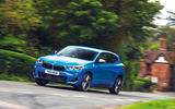 BMW X2 M35i 2019 road test review - cornering front