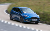Ford Fiesta ST 2018 road test review cornering front