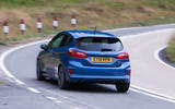 Ford Fiesta ST 2018 road test review cornering rear