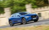 Jaguar I-Pace 2018 road test review cornering front