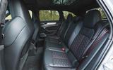 Audi RS6 Avant 2020 road test review - rear seats