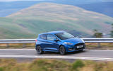 Ford Fiesta ST 2018 road test review on the road side