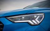 Audi RS Q3 Sportback 2020 road test review - headlights