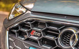 Audi S4 TDI 2019 road test review - front badge