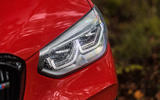 BMW X4 M Competition 2019 road test review - headlights
