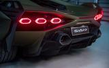 5 lamborghini sian 2021 uk first drive review rear lights