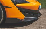 McLaren 600LT Spider 2019 road test review - front aero