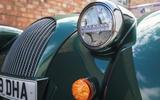 Morgan Plus Six 2019 road test review - headlights