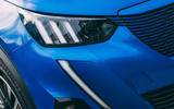 Peugeot e-2008 2020 road test review - headlights