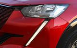 Peugeot e-208 2020 road test review - daytime running lights