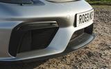 Porsche 718 Spyder 2020 road test review - front bumper