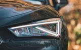 Seat Leon eHybrid 2020 road test review - headlights