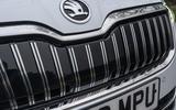 Skoda Superb iV 2020 road test review - front grille