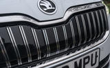 Skoda Superb iV 2020 road test review - front grille