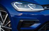 Volkswagen Golf R 2019 road test review - headlights