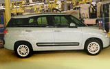 Fiat 500XL revealed in factory spy shot
