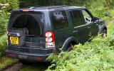 Land Rover Discovery off-roading rear