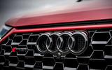 Audi RS Q3 2020 road test review - front logo