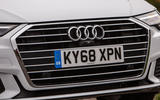 Audi A6 Avant 2018 road test review - front grille